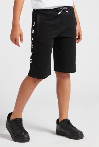 Marvel Print Shorts with Pockets and Drawstring