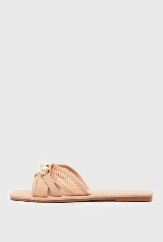 Embellished Slip-On Flat Sandals