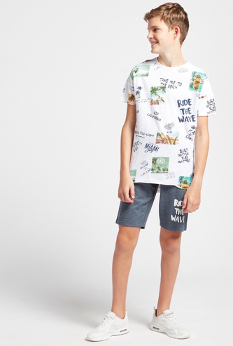 All-Over Print Short Sleeves T-shirt with Shorts Set