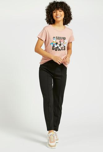 Solid Pants with Drawstring Closure