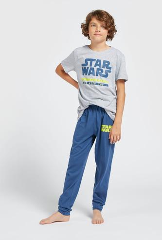 Star Wars Graphic Print T-shirt and Pyjama Set
