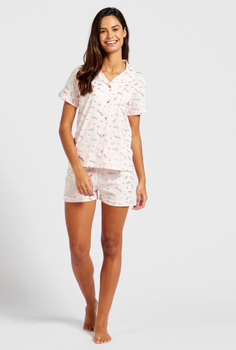 All-Over Princess Print Sleepshirt with Shorts Set