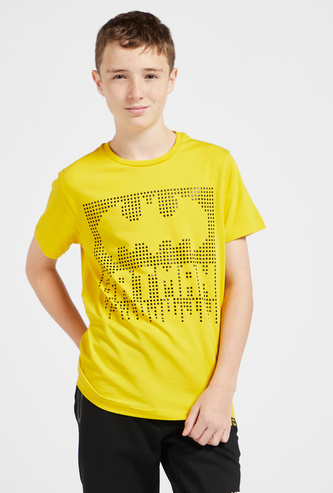 Batman Round Neck T-shirt with Short Sleeves