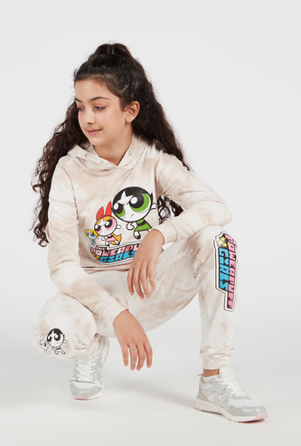 The Powerpuff Girls Printed Sweatshirt and Jog Pants Set