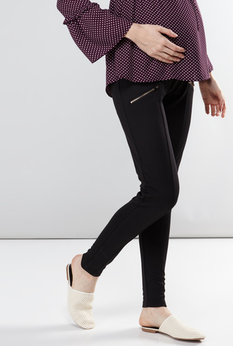 Maternity Full Length jeggings with Zip Pockets