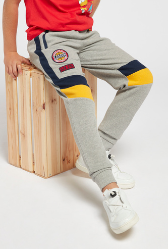 Colourblocked Joggers with Drawstring and Pockets