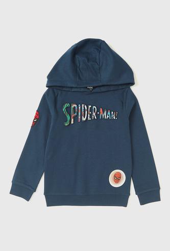 Spider-Man Embossed Print Hoodie with Long Sleeves