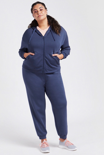 Solid Full Length Jog Pants with Elasticated Waistband