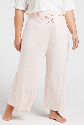Star Print Pyjama with Elasticised Waistband and Drawstring