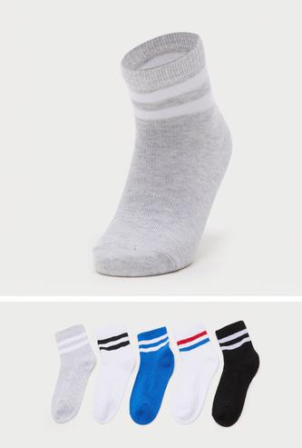 Pack of 5 - Striped Ankle Length Socks