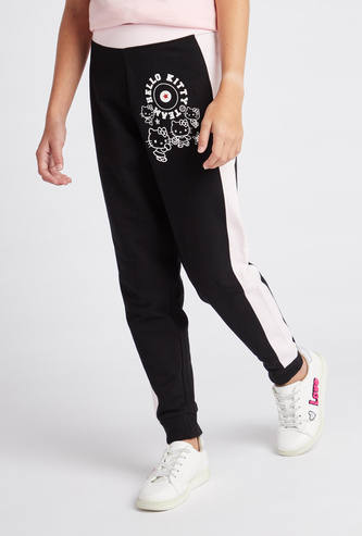 Hello Kitty Print Jog Pants with Elasticised Waistband