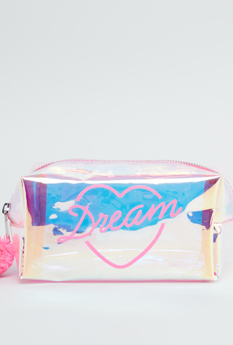 Printed Rectangular Pouch with Zip Closure