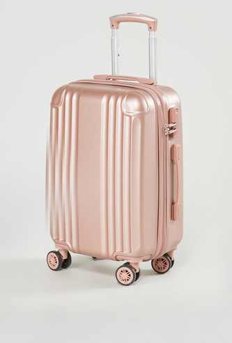 Textured Hard Case Trolley Bag with Swivel Wheels 55x23x36.5 cms