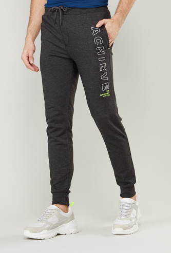 Full Length Printed Jog Pants with Pocket Detail