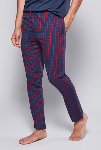 Checked Pyjamas with Drawstring Waistband