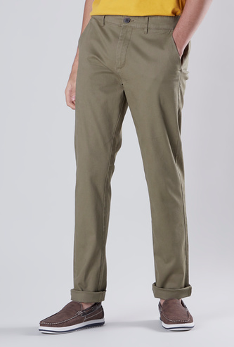 Skinny Fit Chinos with Pocket Detail