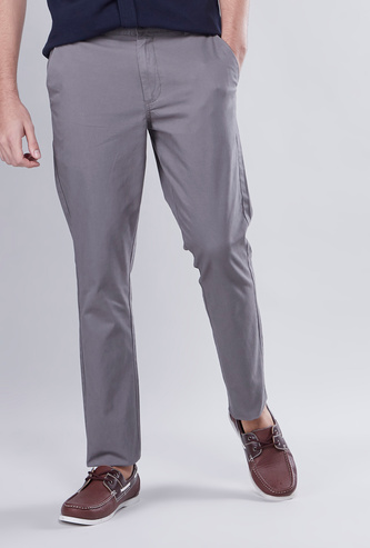 Slim Fit Full Length Chinos with Pocket Detail and Belt Loops