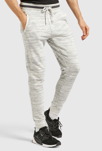 Printed Jog Pants with Pocket Detail and Drawstring Closure