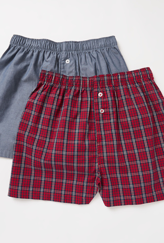 Set of 2 - Assorted Boxer Shorts with Elasticated Waistband