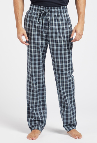 Checked Pyjamas with Pocket Detail and Drawstring Closure