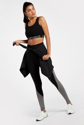 Panelled Full Length High Rise Leggings