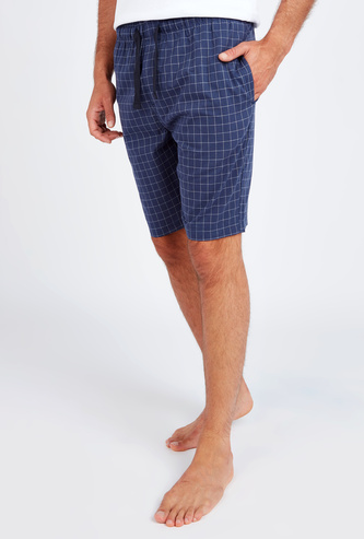 Checked Shorts with Pocket Detail and Elasticised Waistband