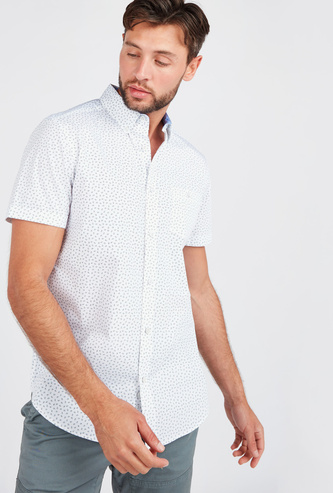 All Over Print Short Sleeves Shirt with Chest Pocket