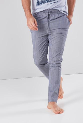 Chequered Pyjamas with Drawstring Detail