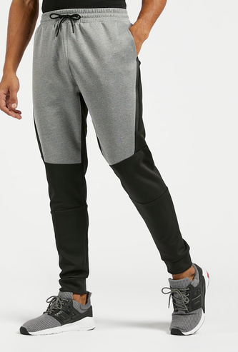 Panel Block Detail Jog Pants with Pockets and Drawstring