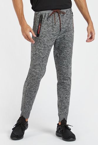 Textured Full Length Joggers with Drawstring Closure and Pockets
