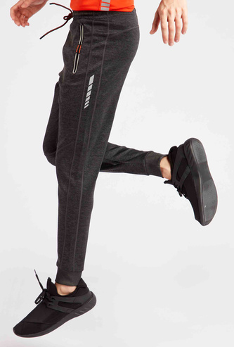 Solid Joggers with Drawstring Closure and Zipper Pockets