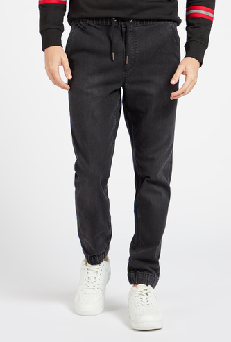Full Length Joggers with Pockets and Drawstring