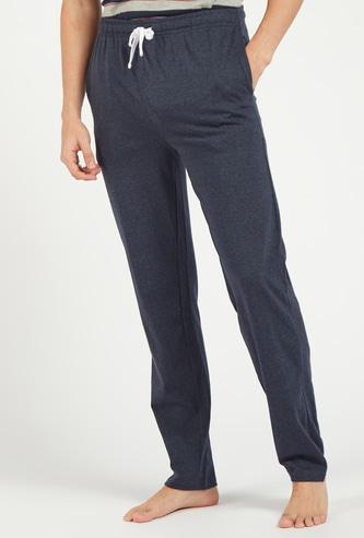 Textured Full Length Pyjamas with Pockets and Drawstring Closure