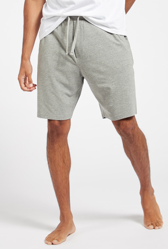 Solid Shorts with Pockets and Drawstring Closure