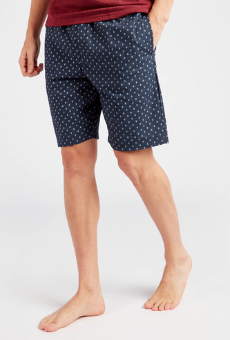 Printed Shorts with Pockets and Drawstring Closure