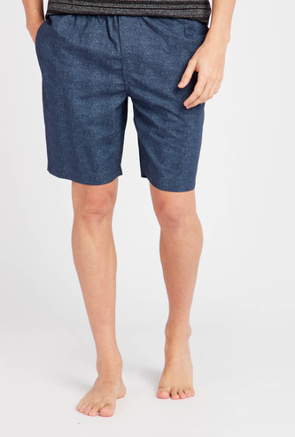 Textured Shorts with Pockets and Elasticated Drawstring Closure