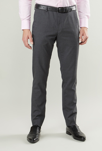 Slim Fit Trousers with Pocket Detail