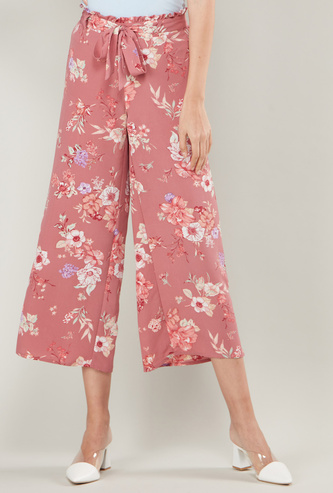 Floral Prints Palazzos with Tie Ups