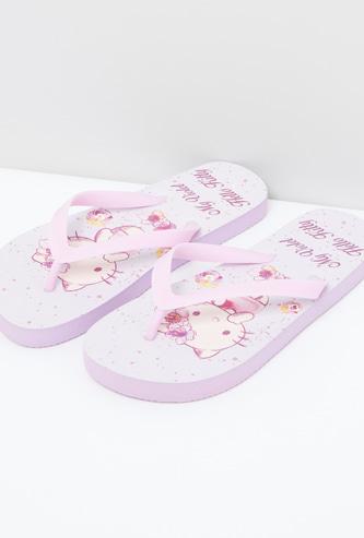 My Violet Hello Kitty Printed Flip Flops