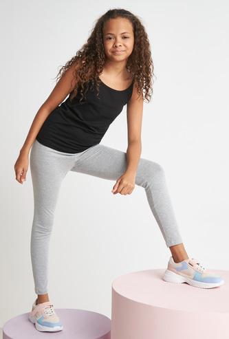 Plain Leggings with Elasticated Waistband