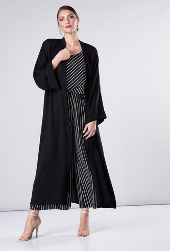 Embellished Abaya with Flared Sleeves