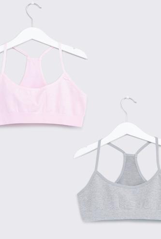 صدرية رياضية دون خياطة بشريطة مطاطية - طقم من قطعتين