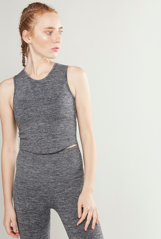 Slim Fit Textured Crop Top