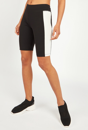 Slim Fit Solid Shorts with Elasticised Waistband