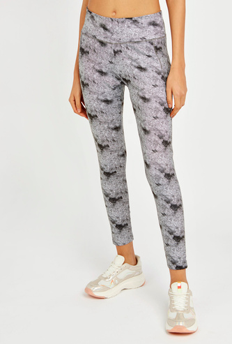 Printed Quick Dry Leggings with Elasticised Waistband