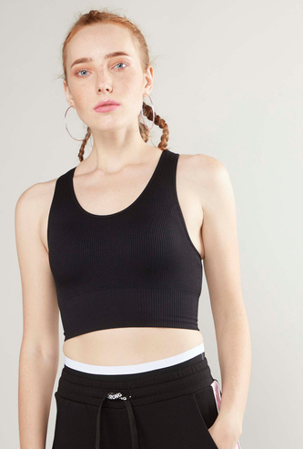 Ribbed Sports Bra with Racerback