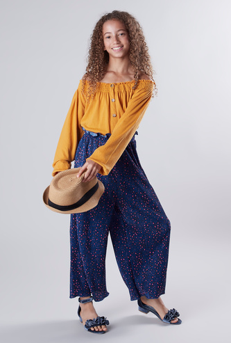 Printed Pants with Drawstring
