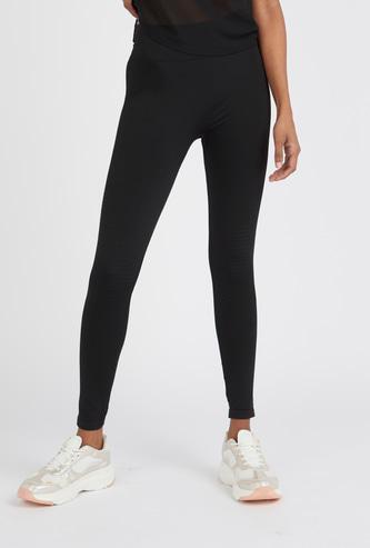 Slim Fit Full Length Solid Seamless Leggings