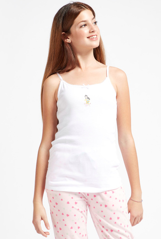 Set of 2 - Disney Princess Print Camisole with Lace and Bow Detail