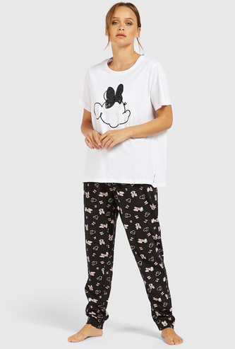 Minnie Mouse Short Sleeves T-shirt and Full Length Pyjama Set